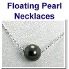 Solitaire Floating Pearl Necklaces